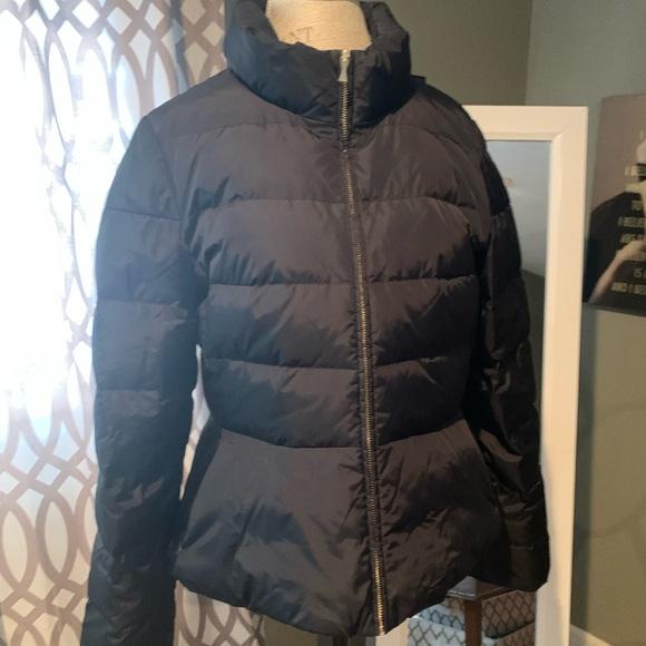 Gently worn Kate Spade black puffer jacket-size 14